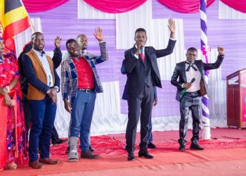 Bobi Wine and other People Power activitists at a function recently (PHOTO/Courtesy)