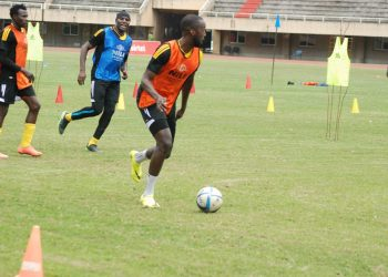 Mukiibi in training with the Cranes recently. (PHOTO/File)