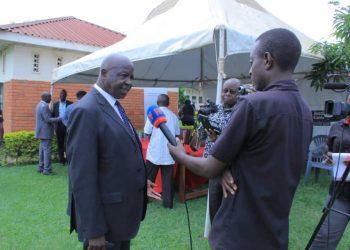 Fort Portal Resident Judge, Wilson Masalu Musene speaks to media on Thursday (PHOTO/PML Daily).
