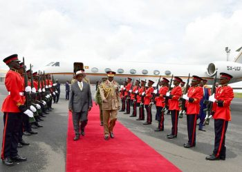 President Yoweri Museveni arrives in capital Nairobi, Kenya (PHOTO/PPU).