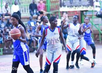 Acftion between JKL Lady Dolphins and UCU Lady Dolphins in  game six played at YMCA on Sunday. (PHOTO/FUBA)