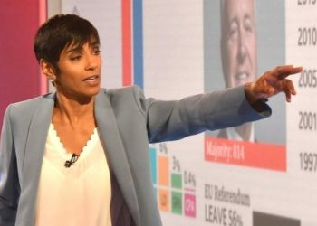 Reeta Chakrabarti analysed election results on television for the BBC (PHOTO/BBC)