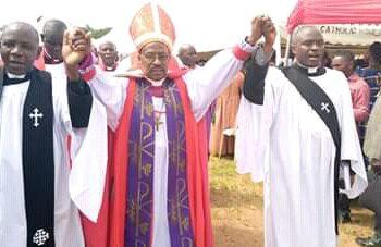 Right Rev. Benon Magezi during Christmas service on Wednesday. (PHOTO/Courtesy)