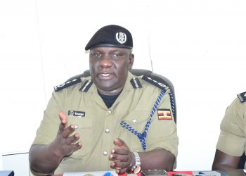 Police spokesman Fred Enanga addressing press on Monday (PHOTO/File).