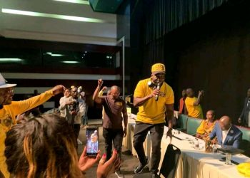 Bebe Cool singing in South Africa on Saturday (PHOTO/Courtesy)