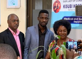 Bobi Wine has visited Tamale Mirundi at Kisubi Hospital (PHOTO/Courtesy)