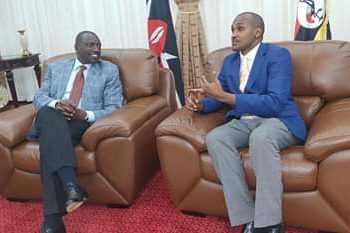 Ruto was received by new gender minister Frank Tumwebaze (PHOTO/Courtesy).