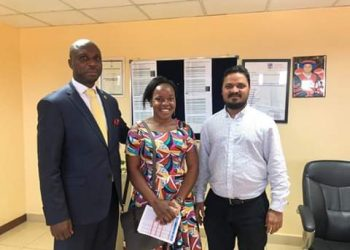 Mbabazi with Rotarian Kabyanga and Victoria University Vice Chancellor-Assoc. Prof. Krishna N. Sharma. (PHOTO/Courtesy)