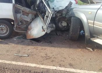 A picture taken after the Accident at Sanga on Monday morning. (PHOTO/Courtesy)
