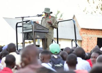 President Yoweri Museveni addresses Ankole and Kigezi residents on developments in the dairy sector (PHOTO/File)