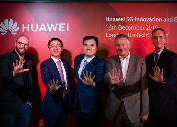 Huawei unveils its 5G Innovation & Experience Center in London on December 16 (PHOTO/Huawei)