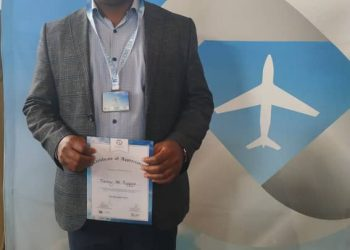 UCAA, Manager Public Affairs, Vianney Mpungu Luggya, was recognized by ICAO over outstanding performance (PHOTO/Courtesy).