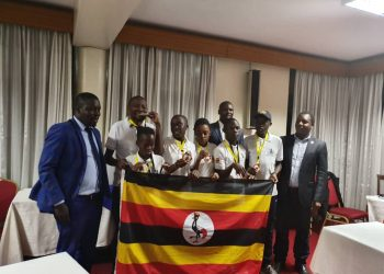 Uganda's team poses for a picture after winning the 2019 Zone 4.4 Youth U16 Team Chess Championship. (PHOTO/Courtesy)