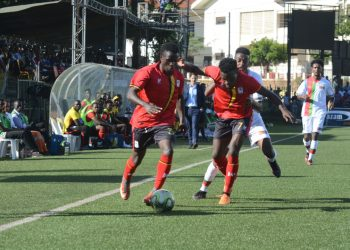 Action between Uganda and Eritrea in the CECAFA Senior Challenge Cup on Wednesday. (PHOTO/FUFA)