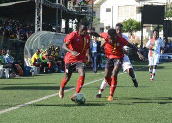 Action between Uganda and Eritrea in the CECAFA Senior Challenge Cup on Wednesday. (PHOTO/FUFA)