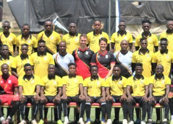 The Uganda Cranes players and staff pose for a picture on Friday ahead of the 2019 CECAFA Senior Challenge Cup. (PHOTO/ FUFA)