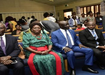 The Speaker (in green) at the Latter Day Saints Church in Kololo, Kampala (PHOTO/PML Daily)