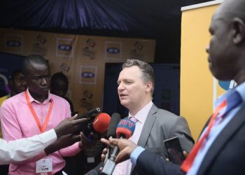 Chief Executive Officer (CEO), MTN Uganda – Mr. Win Vanhelleputte received the award  at the company's offices in Kololo, Nyonyi Gardens (PHOTO/File)