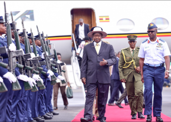 President Yoweri Museveni arrives in capital Nairobi, Kenya (PHOTO/File).