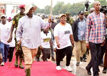 President Museveni who led anti-corruption walk on Wednesday (PHOTO/PPU).