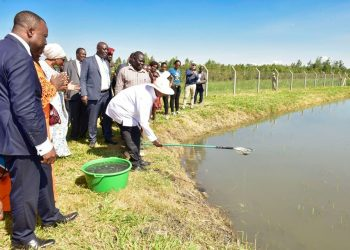 President Museveni at the Limoto Wetland Wise Use Demonstration Site on Thursday (PHOTO/PPU).