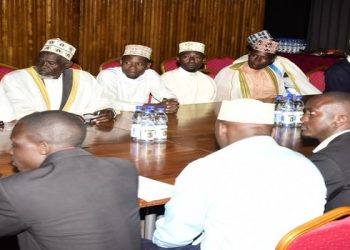 A group of muslims in a meeting with speaker Kadaga at the Parliament on Wwdnesday (PHOTO/Courtesy).