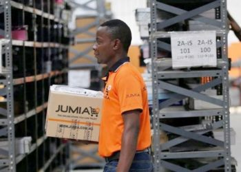 Processing orders in a Jumia warehouse (PHOTO/Courtesy).