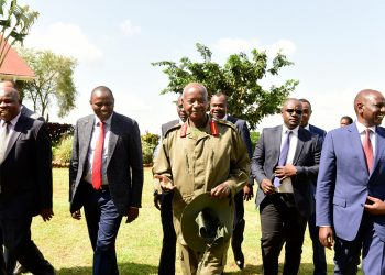 Kenyan Deputy President Dr. William S. Ruto paid Museveni a courtesy visit at State Lodge Mubende (PHOTO/PPU)