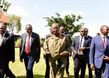 Kenyan Deputy President Dr. William S. Ruto paid Museveni a courtesy visit at State Lodge Mubende (PHOTO/PPU)