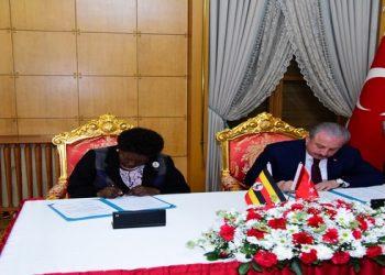 Speaker Kadaga sign MOU with The Grand National Assembly of Turkey, led by Speaker Mustafa Sentop, 4th 12 2019