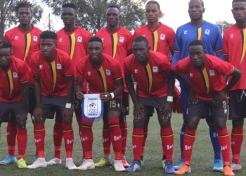 The Uganda Cranes team that started against Tanzania. (PHOTO/COURTESY)