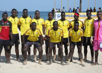 The Sand Cranes team that finished second at the Copa Dar es Salaam Beach Soccer tournament. (PHOTO/Courtesy)