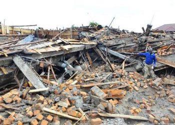 Demolished Kabale Central Market (PHOTO/Micah Kamusiime).