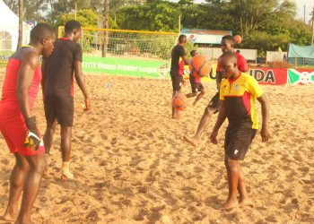 The Sand Cranes during Monday's recovery session. (PHOTO/FUFA)
