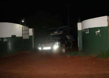 The deceased being ferried out of Kampala university premises (PHOTO/Courtesy).