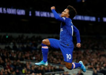 Willian scored a brace as Chelsea beat Spurs 2-0 on Sunday.