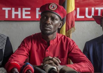 Musician and opposition leader Robert Kyagulanyi aka Bobi Wine during a press conference in Kampala (PHOTO/File)