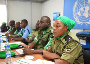 Newly deployed Individual Police Officers (IPOs) serving under the African Union Mission in Somalia (AMISOM) attend induction training in Mogadishu (PHOTO/AMISOM)
