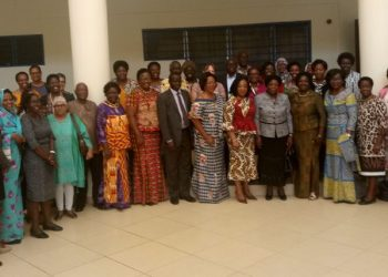 A cross-section of Female Vice Chancellors and other academic leaders from universities in Africa pose for a photograph at the University of Cape Coast-Ghana during the annual general meeting of the Regional Universities Forum for Capacity Building in Africa