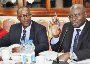 EC chairperson-Justice-Simon-Byabakama-stresses-a-point before parliamentry committee
