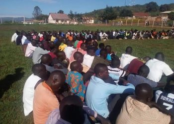 Hundreds turnout to join UPDF in KIBOGA district on Thursday (PHOTO/Courtesy).