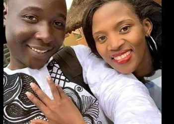 The late Kamazima Sarah shares a light moment with her husband Odwori ahead of their wedding in September 2019 (PHOTO/Courtesy).
