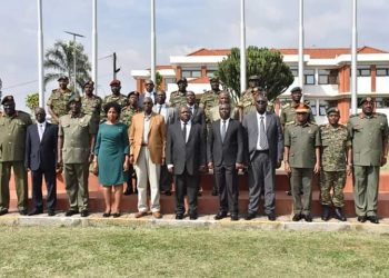 Minister Rwamirama has handed over Veterans affairs office (PHOTO/Courtesy).