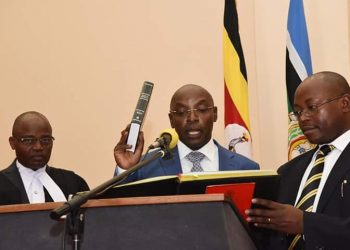 New Principal Judge Dr. Flavia Zeija taking his oath at State House (PHOTO/PPU)
