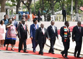 Different heads of states including Uganda's Vice President Edward Ssekandi arriving at the function (PHOTO/Courtesy).