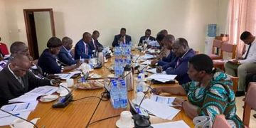 Pius Bigirimana, the Permanent Secretary to judiciary and colleagues appearing before the
