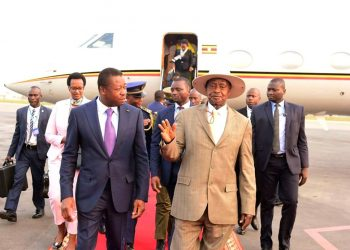 Presdent Museveni welcomed in Togo for France-Africa summit (PHOTO/PPU).