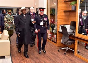 President Yoweri Museveni has arrived to London to take part in the UK-Africa Summit 2020 (PHOTO/PPU)