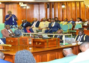 Hon. Rwakoojo Robina Gureme, Gomba West County Gomba submitting before the house