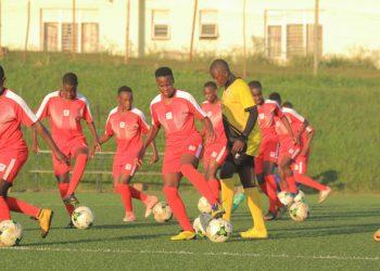 Uganda's U17 Girls team training on Saturday morning. (PHOTOS/FUFA)
